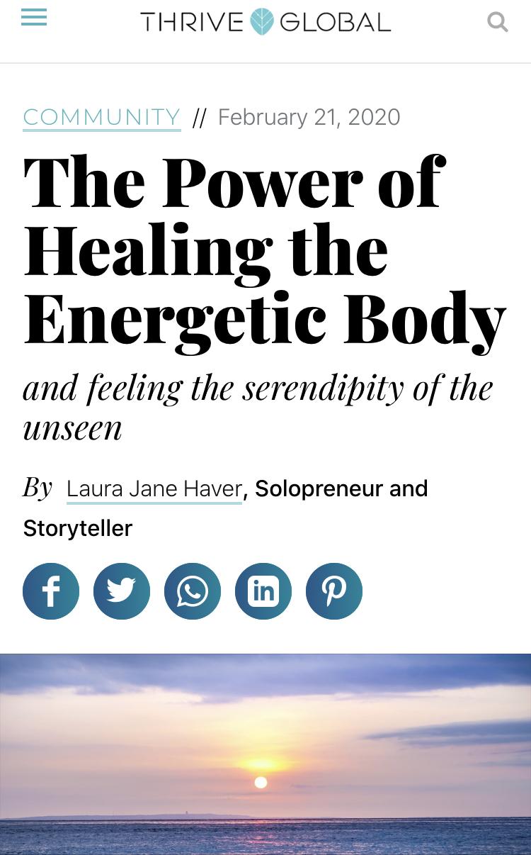 Healing Elaine® in Thrive Global